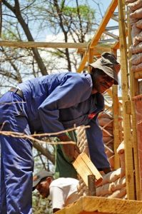 eco construction with local wood